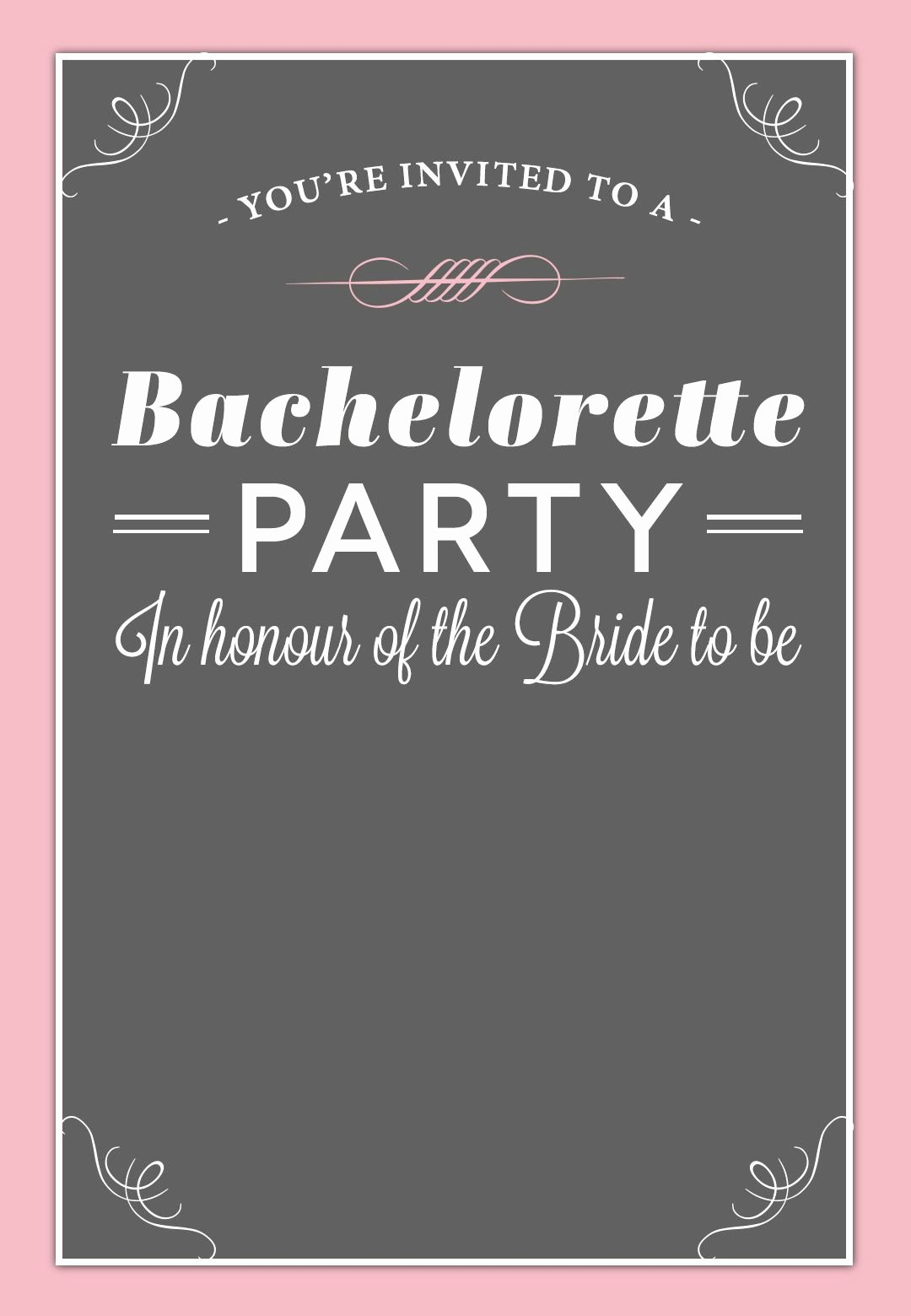 Bachelorette Party Invite Template Free Beautiful Bachelorette Party Invitation Free Printable
