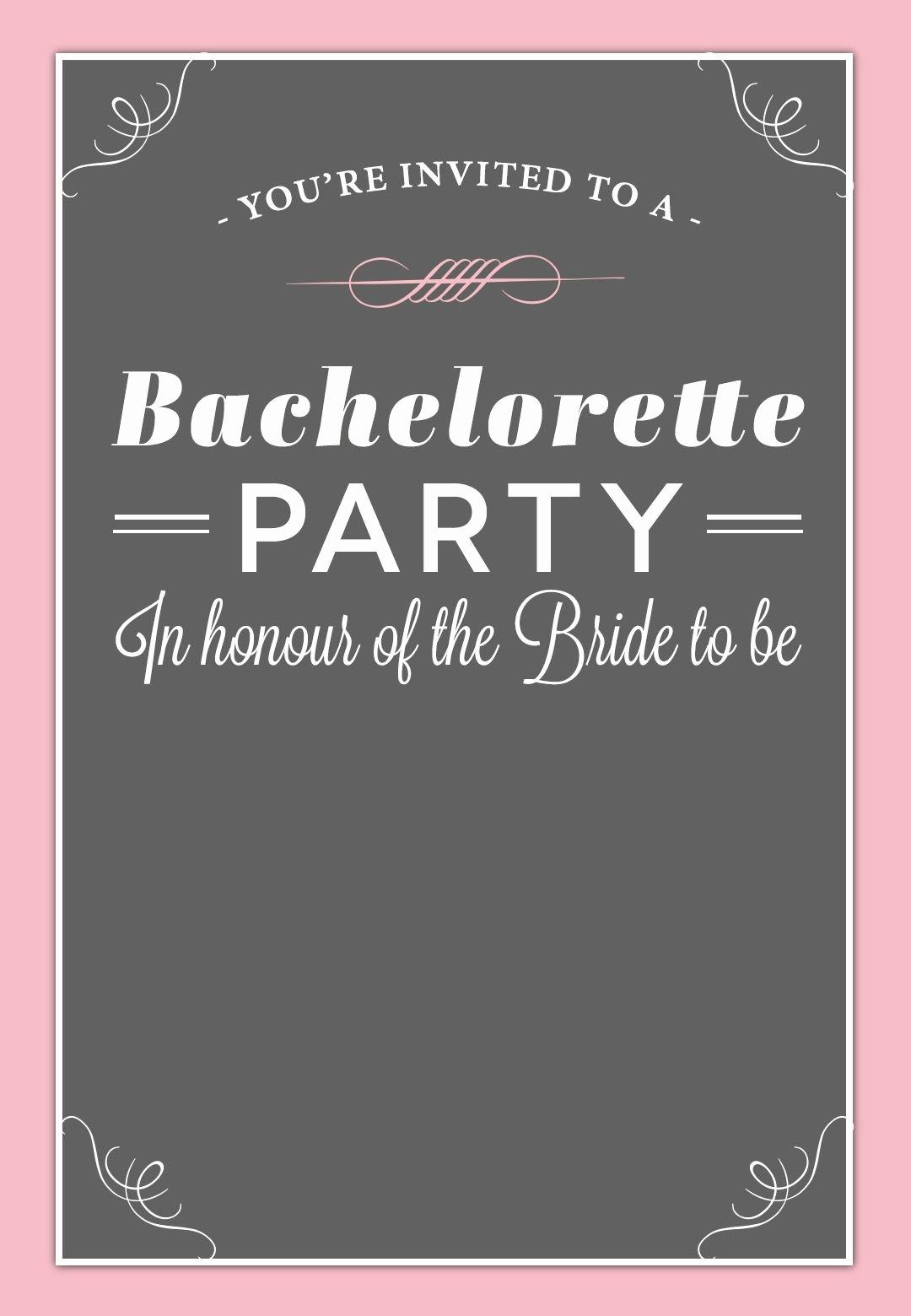 Bachelorette Party Invite Template Free Beautiful Bachelorette Party Invitation Free Printable