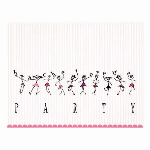 """Bachelorette Party Invite Template Free Beautiful Bachelorette Party Template 4 25"""" X 5 5"""" Invitation Card"""