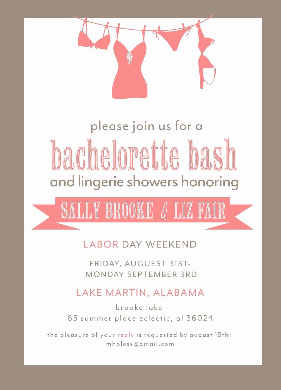 Bachelorette Party Invite Template Free Best Of Bachelorette Party Invitation Printable File