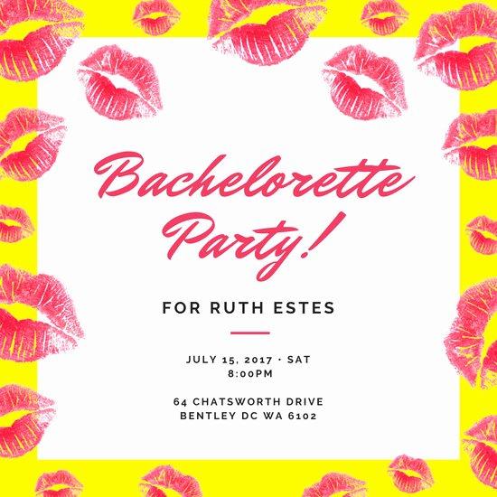 Bachelorette Party Invite Template Free Fresh Customize 94 Bachelorette Party Invitation Templates