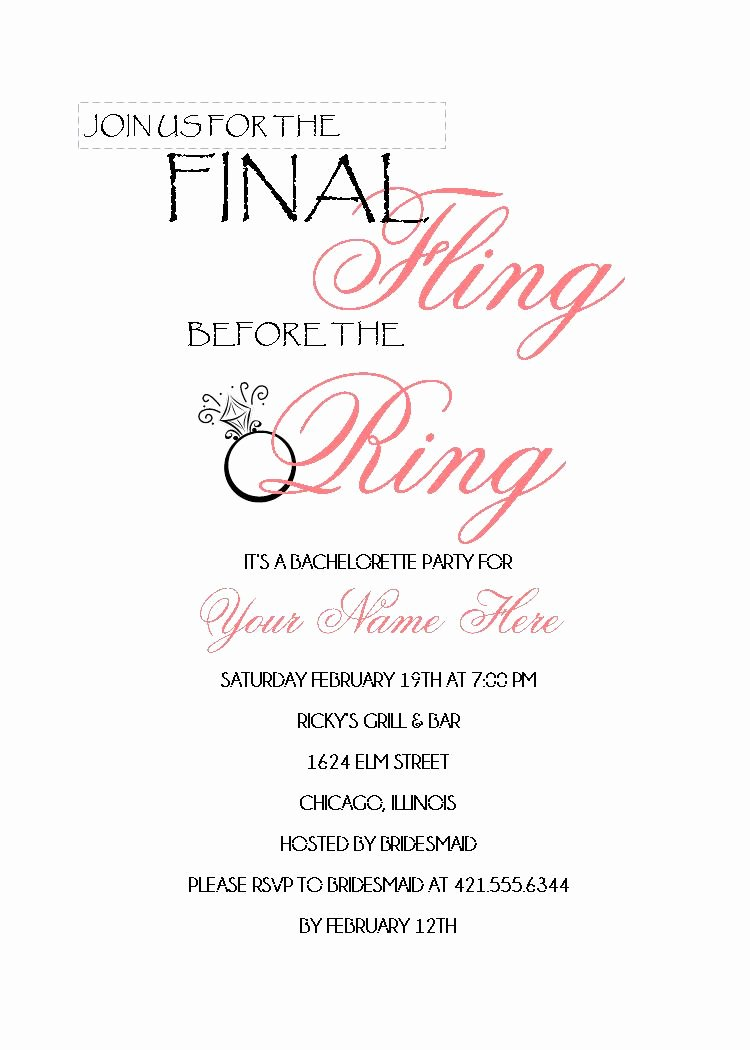 Bachelorette Party Invite Template Free Lovely Hen Party Invitations Templates