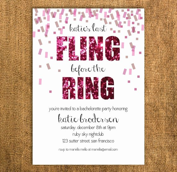 Bachelorette Party Invite Template Free Luxury Diy Printable Bachelorette Invitation by Prettymyparty On Etsy