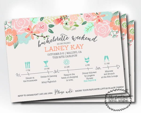 Bachelorette Party Invite Template Free New 12 Bachelorette Party Invitations Psd Ai Vector Eps