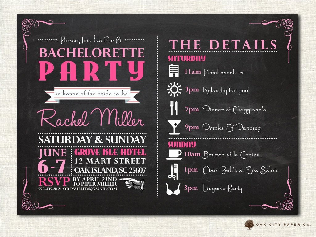 Bachelorette Party Invite Template Free New Bachelorette Invitation Bachelorette Party Invitation