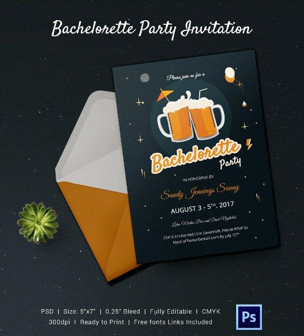 Bachelorette Party Invite Template Free New Bachelorette Invitation Template 40 Free Psd Vector