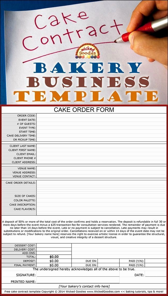 Bakery order form Template Free Beautiful 20 Best Cake Size Serving Sizes Images On Pinterest