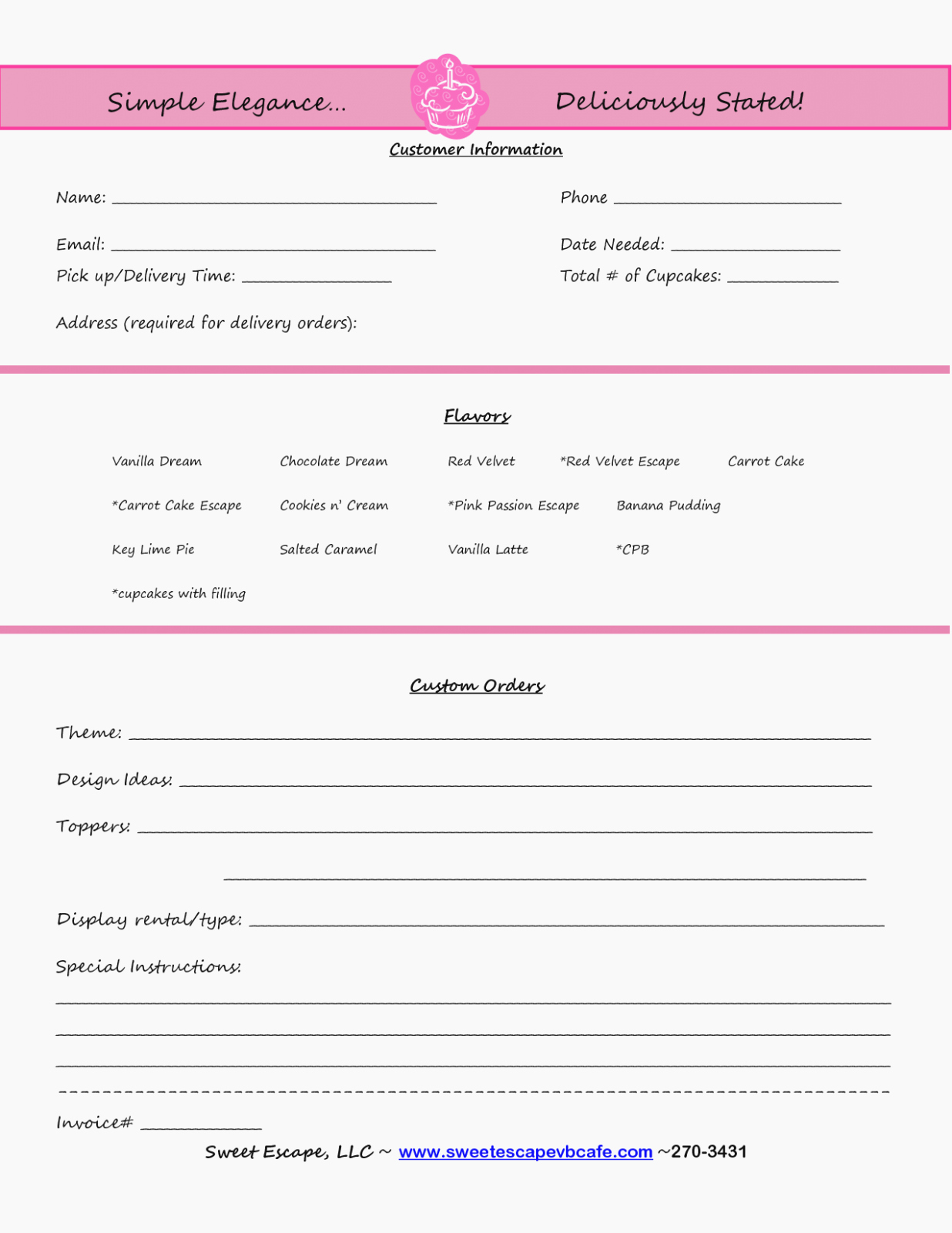 Bakery order form Template Free Luxury How You Can attend Baking