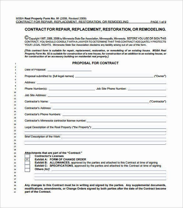 Bank Change order form Template Awesome Contract Change order form