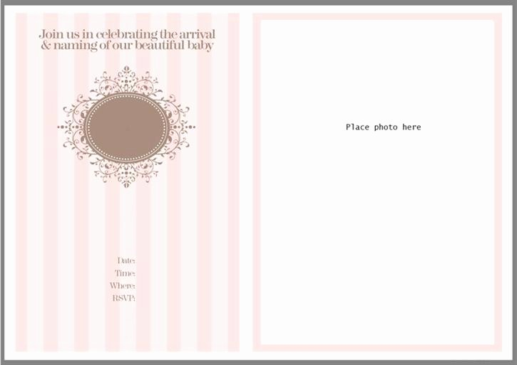 Baptism Invitation Template Free Download Awesome Christening and Naming Celebration Invitation Template