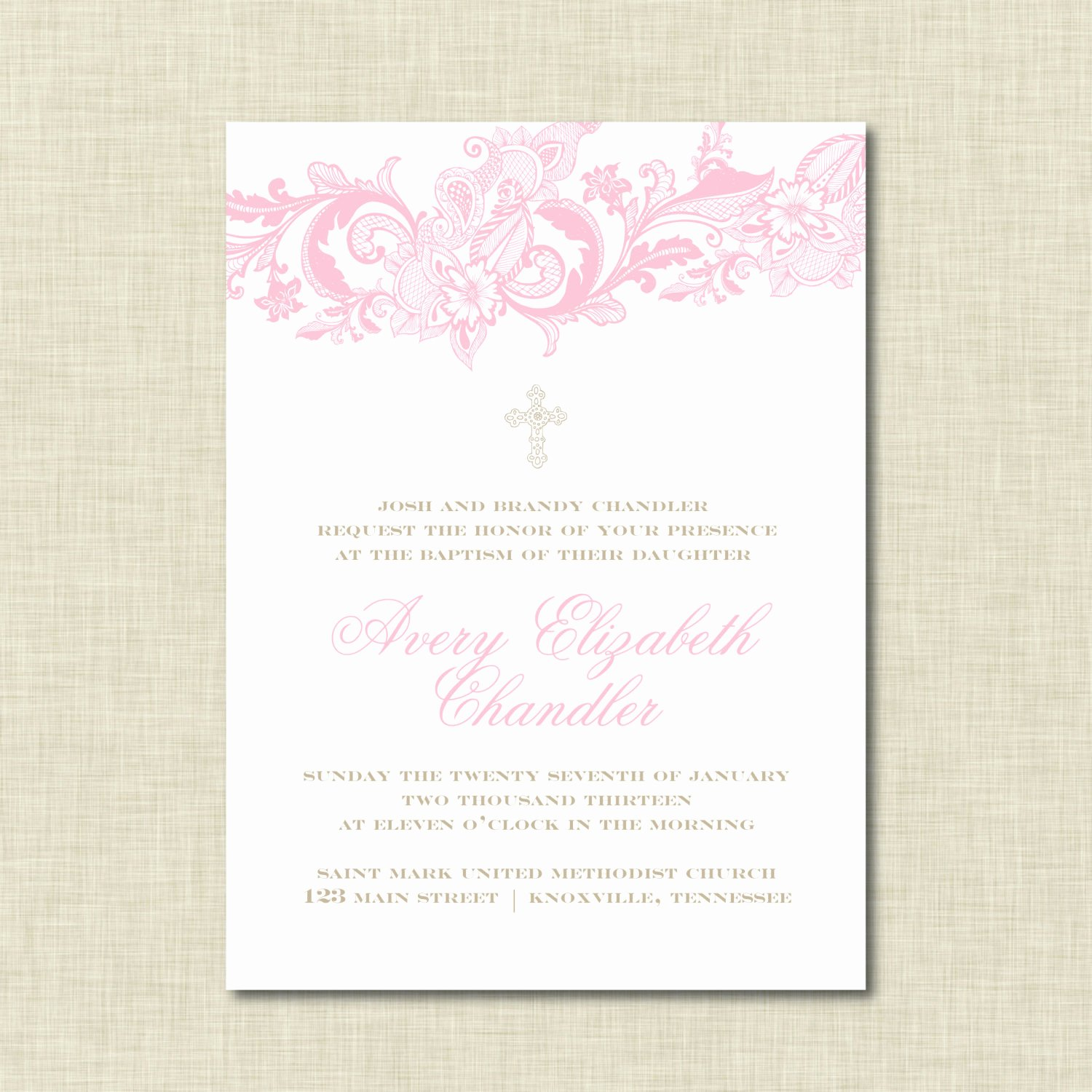 Baptism Invitation Template Free Download Beautiful Baptism Invitations Baptism Invitations for Girls