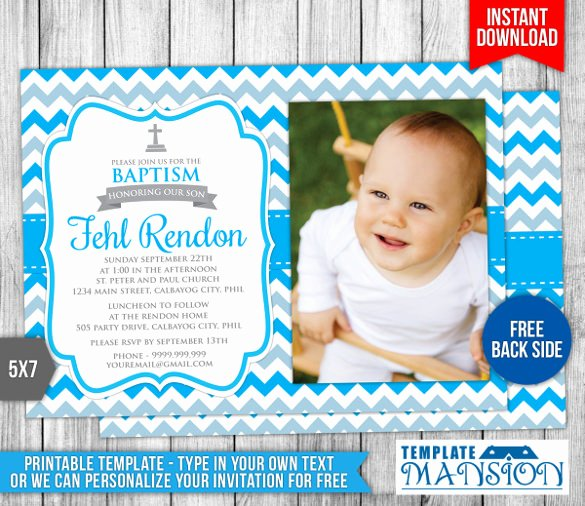 Baptism Invitation Template Free Download Fresh 32 Baptism Invitation Templates Free Sample Example