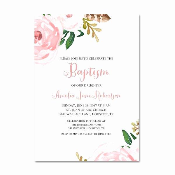 Baptism Invitation Template Free Download Lovely Free Printable Editable Pdf Baptism Invitation Diy Pink