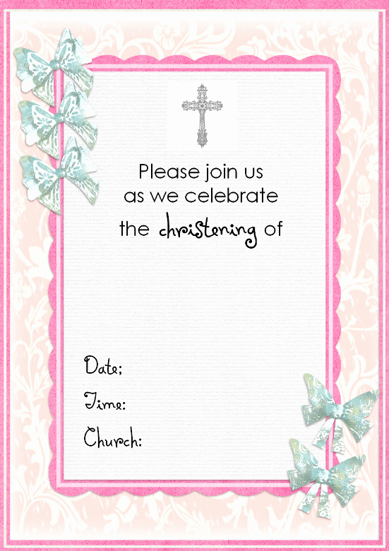 Baptism Invitation Template Free Download Luxury Free Baptism Invitation Template