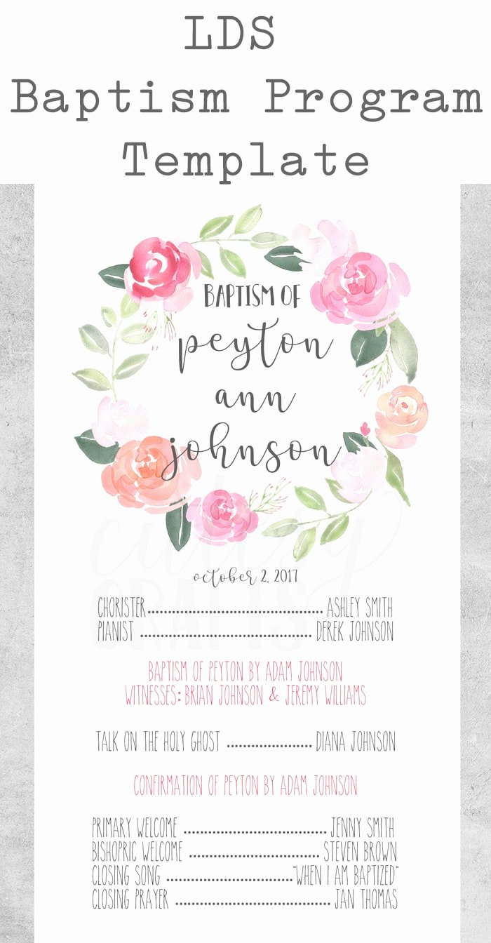 Baptism Invitation Template Free Download Luxury Free Lds Baptism Program Template Cutesy Crafts