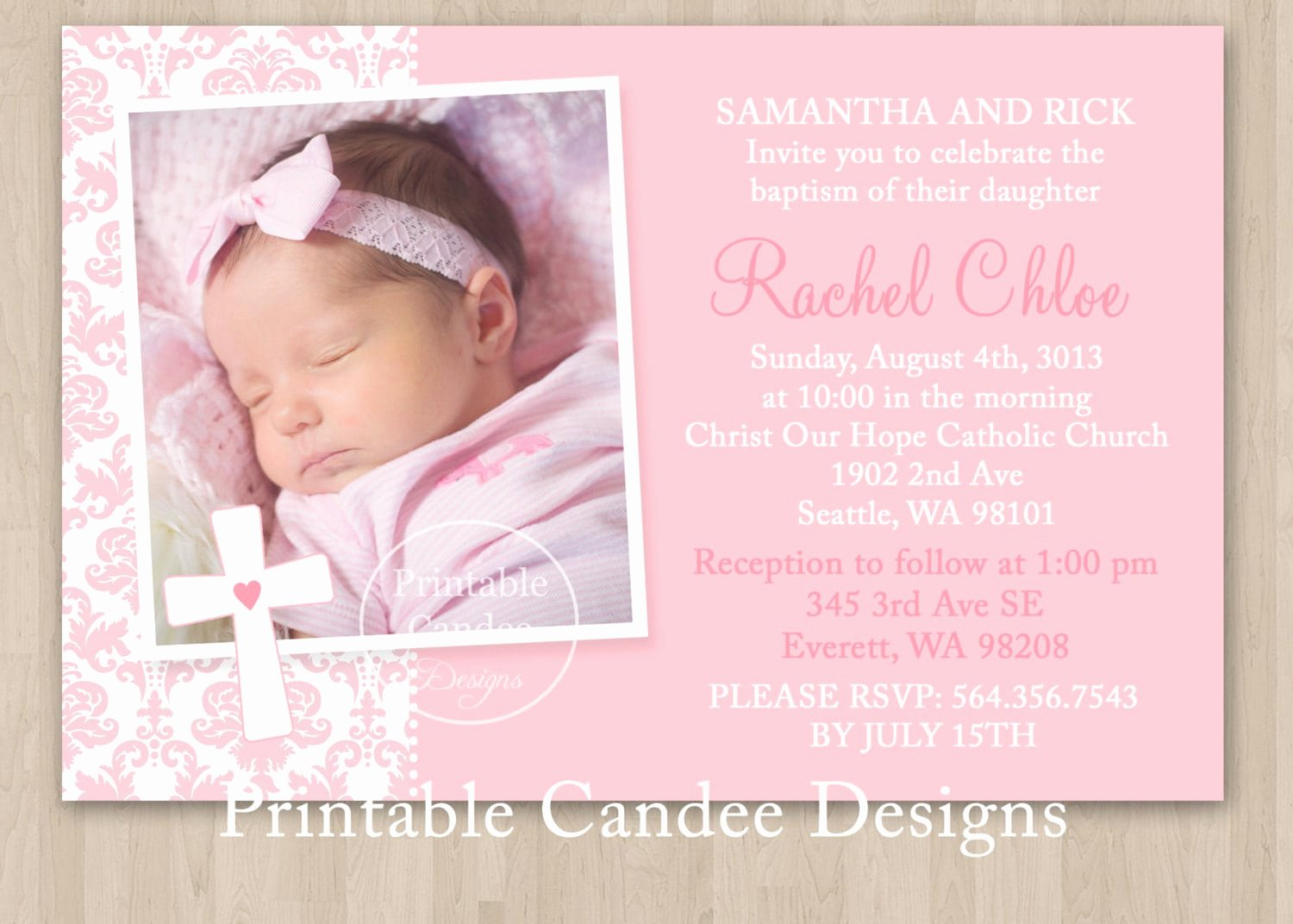 Baptism Invitation Template Free Download New Free Christening Invitation