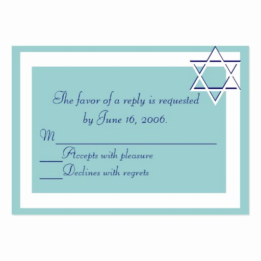 Bar Mitzvah Invitation Template Fresh Bar Bat Mitzvah Invitations Response Card Business