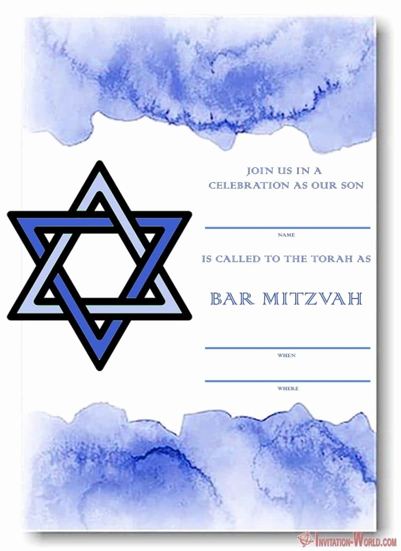Bar Mitzvah Invitation Template Fresh Bar Mitzvah Invitation Templates Easy to Customize