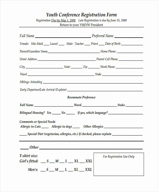 Baseball Registration form Template Awesome Free 50 Printable Registration forms