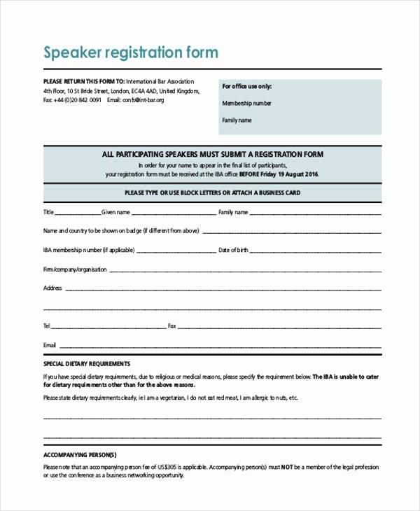 Baseball Registration form Template Best Of Free 50 Printable Registration forms