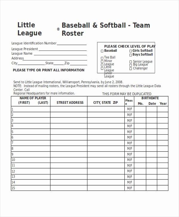 Baseball Registration form Template Best Of Index Of Cdn 3 2005 407