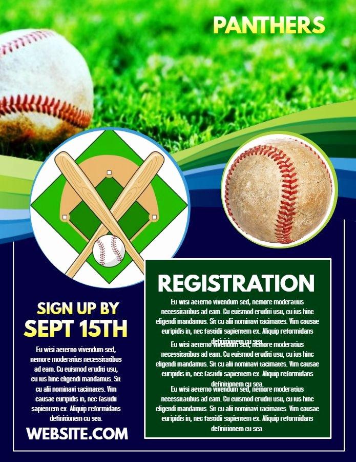 Baseball Registration form Template Fresh 20 Best Sports Poster Templates Images On Pinterest