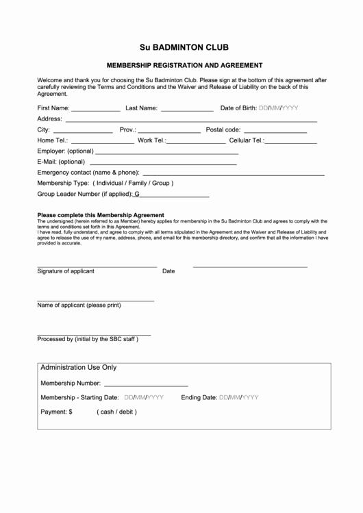 Baseball Registration form Template Inspirational 60 Sports Registration form Templates Free to In Pdf