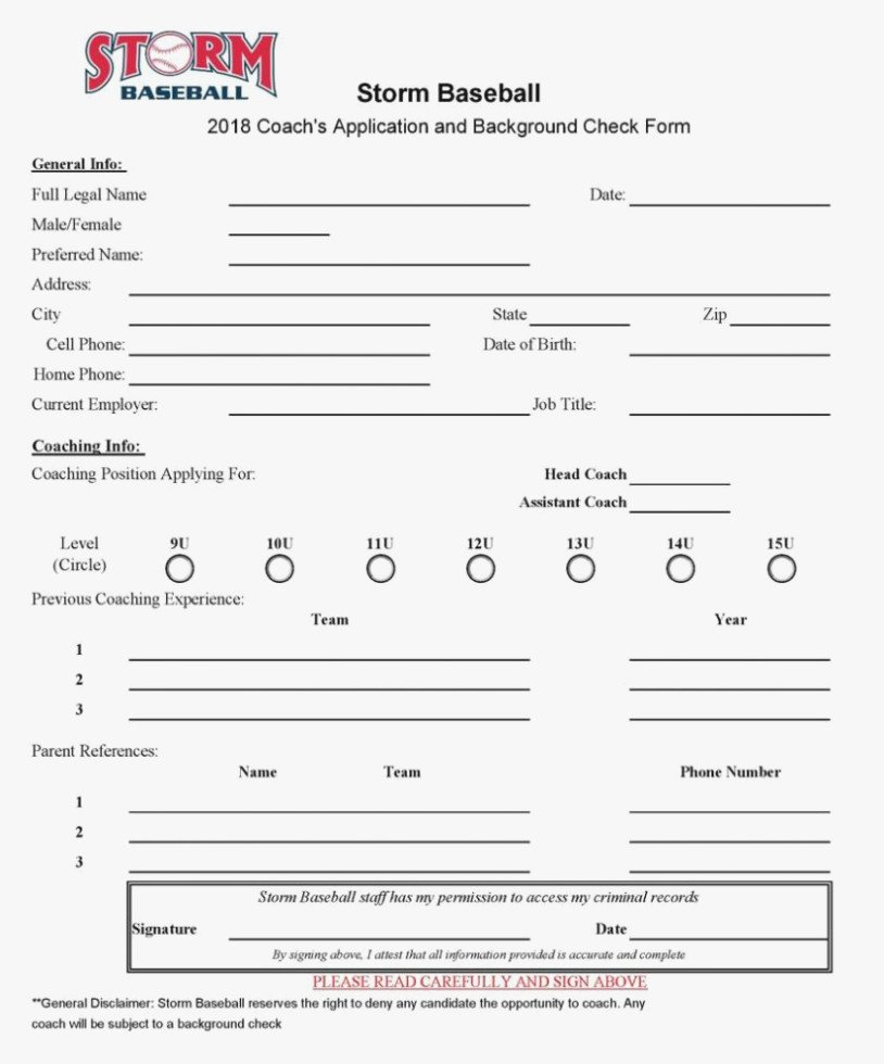 Baseball Registration form Template Luxury why You Must Experience