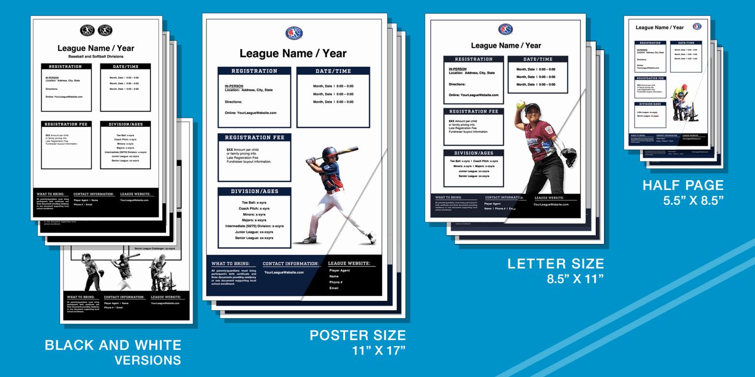 Baseball Registration form Template Unique Marketing Resources Registration Templates Little League