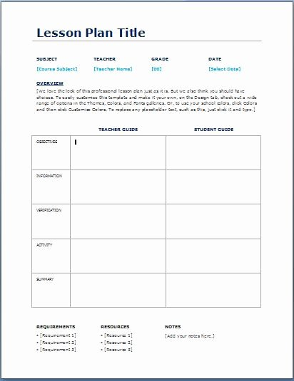 Basic Lesson Plan Template Word Beautiful Teacher Daily Lesson Planner Template Teaching