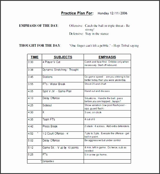 Basketball Practice Plan Template Excel Elegant 10 assignment Planer Template In Excel format