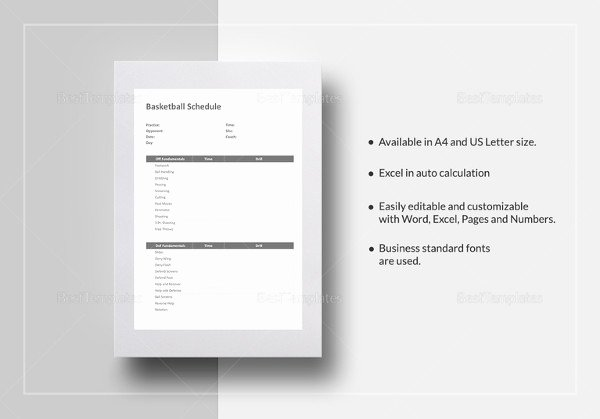 Basketball Practice Plan Template Excel Elegant 13 Basketball Schedule Templates & Samples Doc Pdf