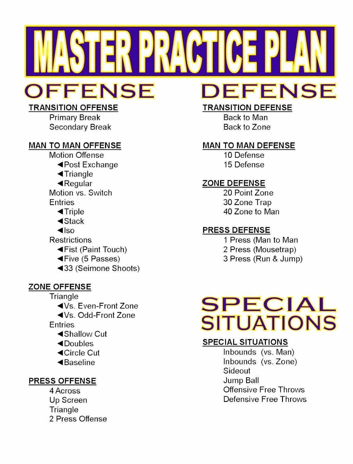Basketball Practice Plan Template Excel Fresh 12 Youth Football Practice Plans Templates byooy