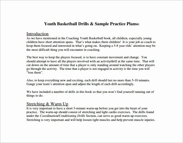 Basketball Practice Plan Template Excel New Basketball Practice Plan Template 3 Free Word Pdf