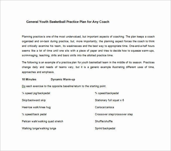 Basketball Practice Plan Template Word Awesome Basketball Practice Plan Template 3 Free Word Pdf