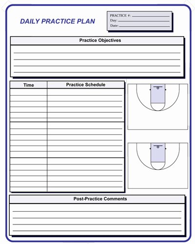 Basketball Practice Schedule Template Awesome Basketball Coaching forms