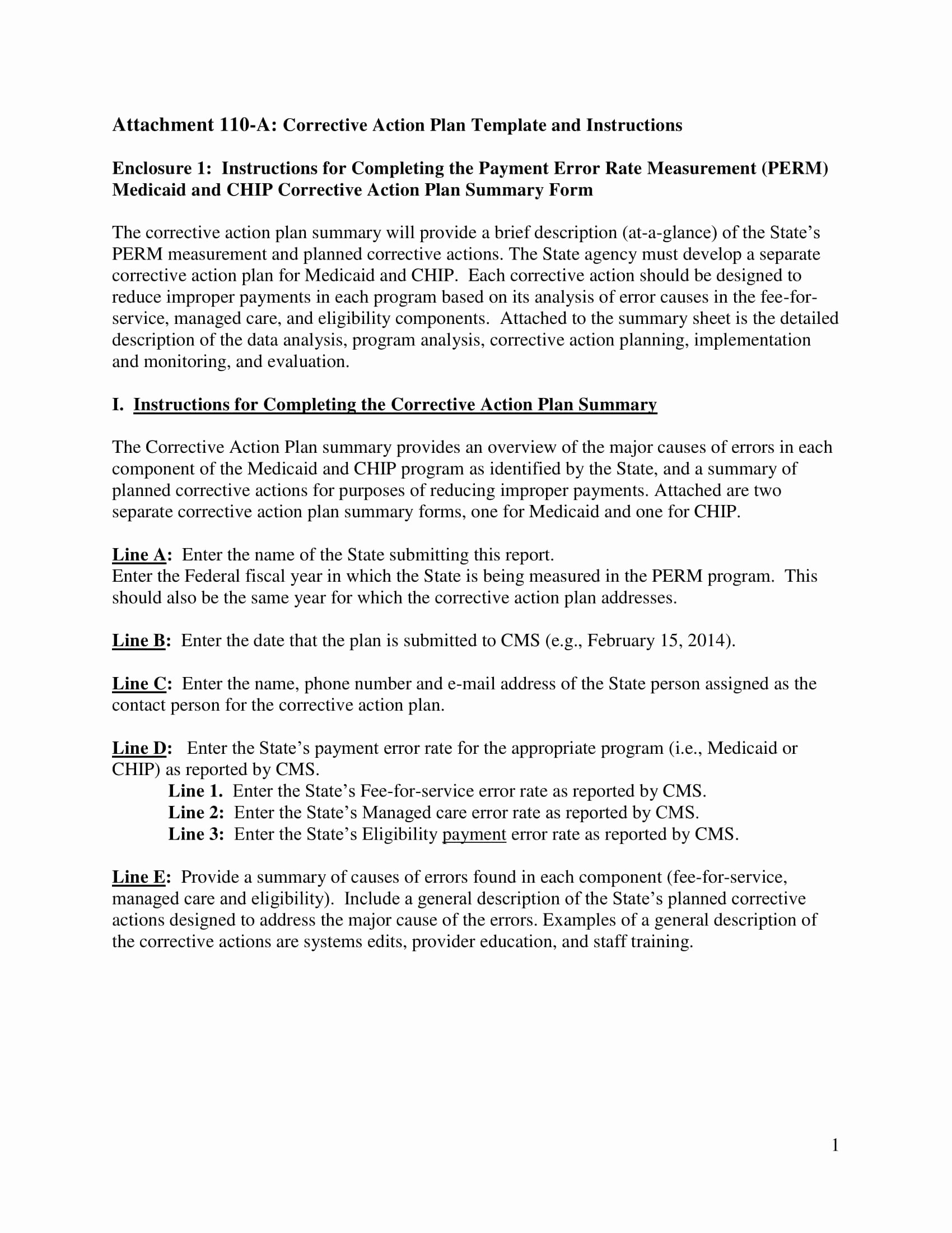 Behavior Action Plan Template Fresh 11 Corrective Action Plan Template Examples Pdf Word