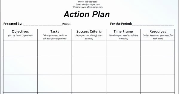 Behavior Action Plan Template Lovely Business Action Plan Template