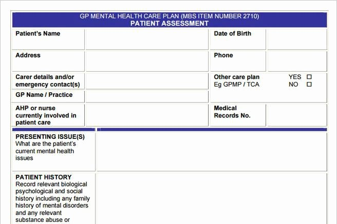 Behavioral Health Treatment Plan Template Fresh 3 Mental Health Care Plan Templates to Help You Be A