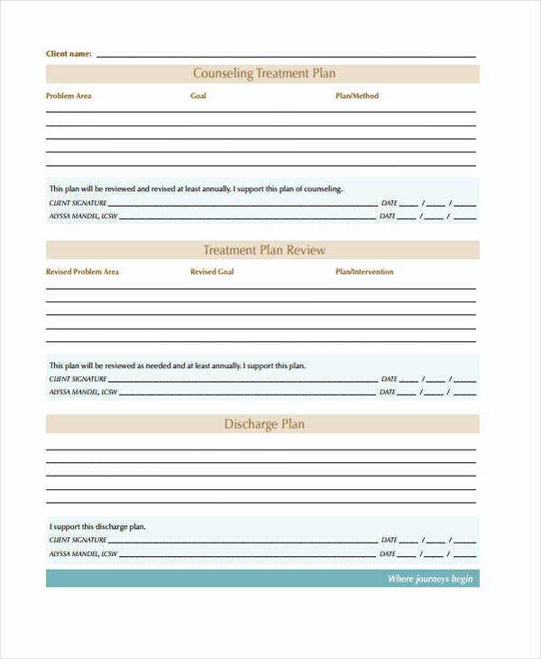 Behavioral Health Treatment Plan Template Fresh 30 Free Treatment Plan Templates