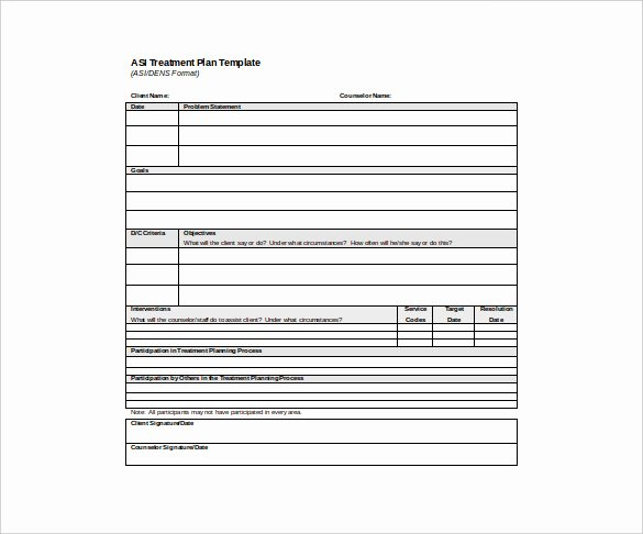 Behavioral Health Treatment Plan Template Unique Psychotherapy Treatment Plan Template
