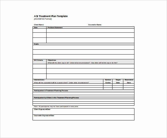 Behavioral Health Treatment Plan Template Unique Psychotherapy Treatment Plan Template