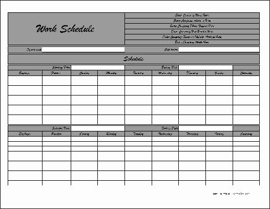 Bi Weekly Schedule Template New 29 Of Bi Weekly Employee Schedule Template