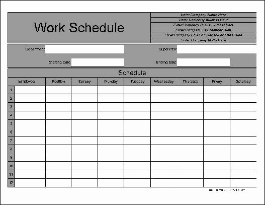 Bi Weekly Schedule Template New Bi Weekly Work Schedule Templates Free Driverlayer