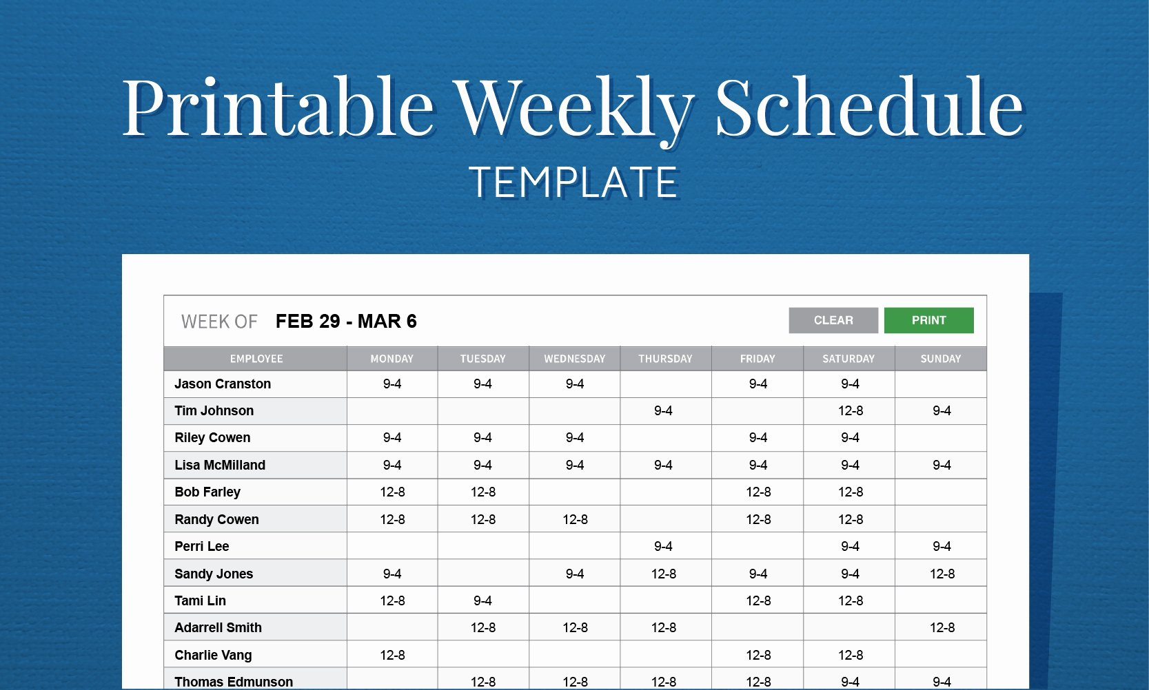 Bi Weekly Work Schedule Template Elegant Take Printable Blank Bi Weekly Employee Schedule ⋆ the