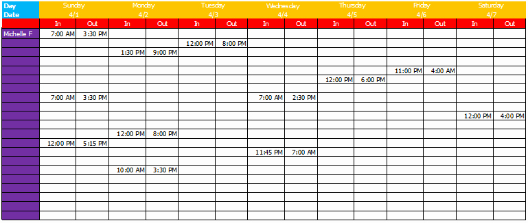 Bi Weekly Work Schedule Template Luxury Work Schedule Template Basic Sheets for Excel