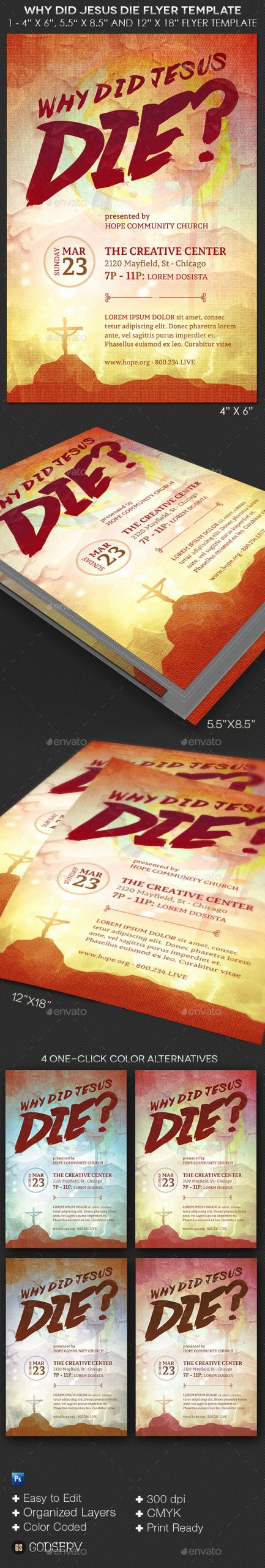 Bible Study Invitation Template Best Of why Did Jesus Die Church Flyer Template