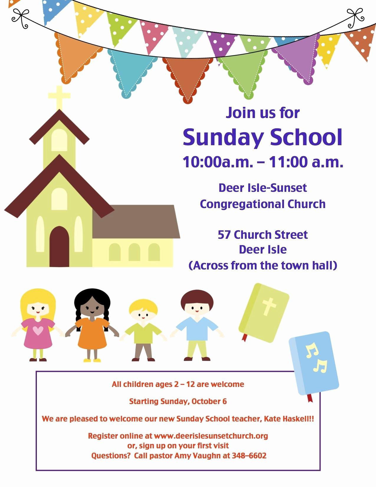 Bible Study Invitation Template Elegant Sunday School Invitation Flyer Google Search