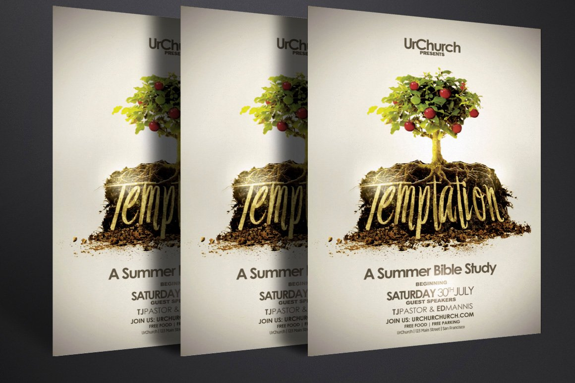 Bible Study Invitation Template Fresh Temptation Series Bible Study Flyer Flyer Templates On