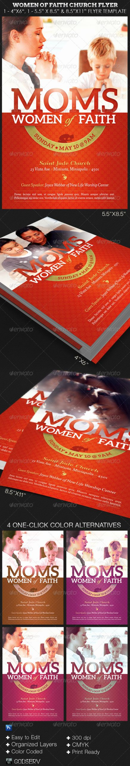Bible Study Invitation Template Fresh Women Of Faith Church Flyer Shop Template